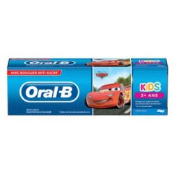 Oral-B Kids Dentifrice Fluoré sans Sucre 3 Ans et + 75 ml Cars-Reine des Neiges