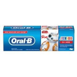 Oral-B Junior Dentifrice Fluoré Sans Sucre 6 Ans et + 75 ml Star Wars