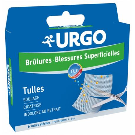 Urgo Brûlures et Blessures Superficielles 6 Tulles Stériles Petit Format