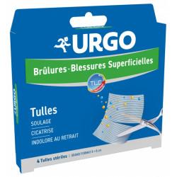 Urgo Brûlures et Blessures Superficielles 4 Tulles