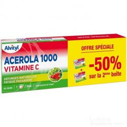 ALVITYL Acérola 1000 Vitamine C À Croquer Lot De 2 Boites De 30 Cps