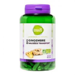 Pharmascience gingembre bio nausées transport 200 gélules