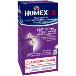 HumexLib Etat grippal 8 sachets