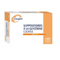 Cooper Suppositoires glycérine Adulte x 100