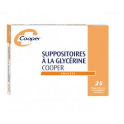 Cooper Suppositoires glycérine Adulte x 25