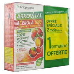 Arkovital Acerola 1000 Lot de 2 x 30 Comprimés